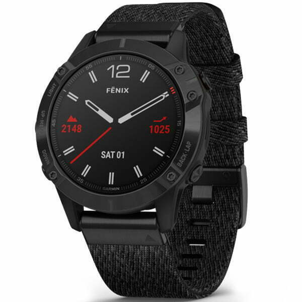 fēnix 6 - Black DLC with Heathered Black Nylon Band