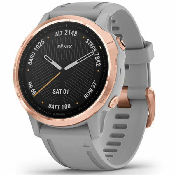 fēnix 6S - Rose Gold-tone with Powder Gray Band