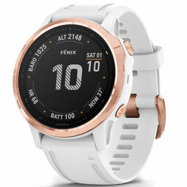 fēnix 6S - Rose Gold-tone with White Band