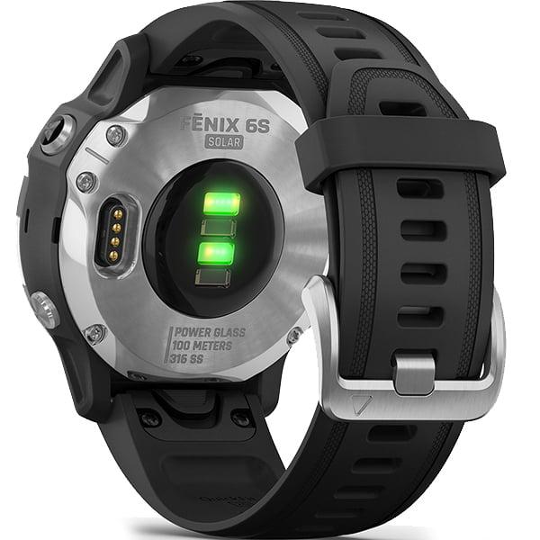 Спортивные часы Garmin Fenix 6S Solar Silver/Black