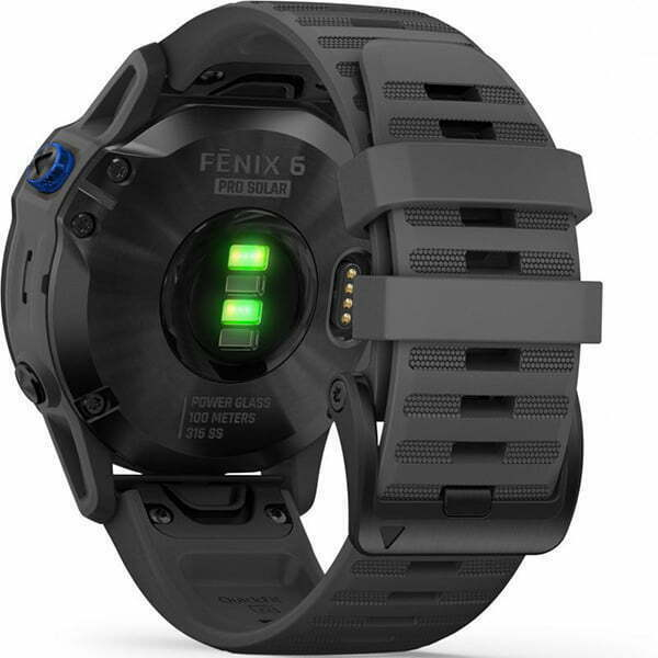fenix 6 Pro Solar, Black w/ Slate Band