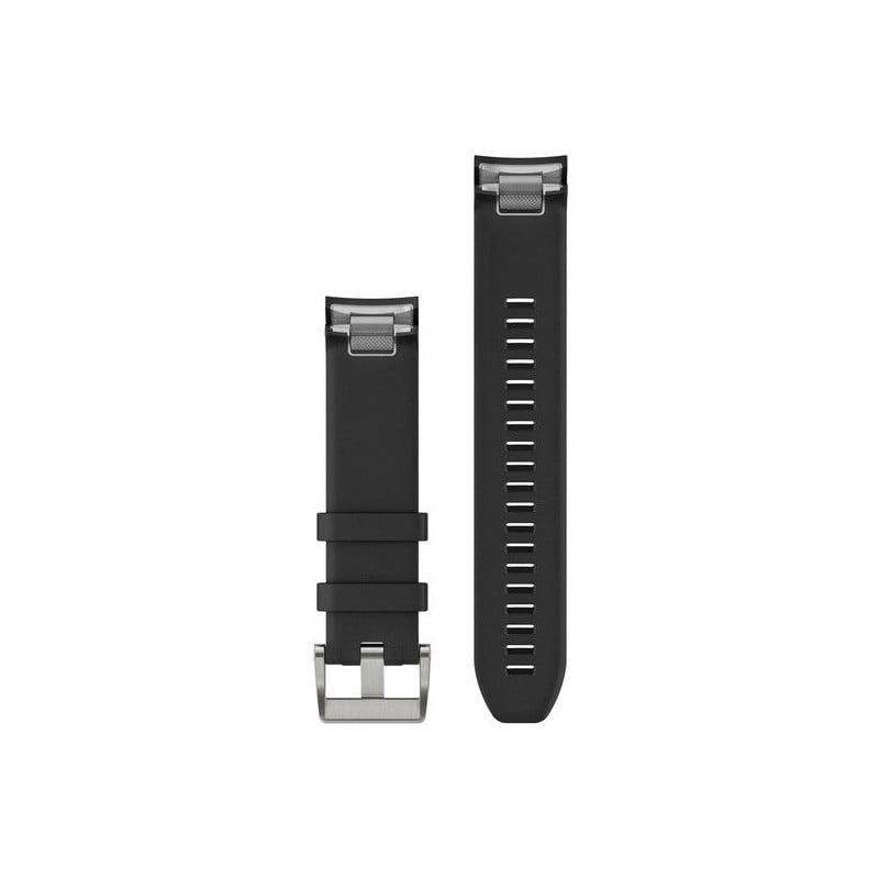 MARQ QuickFit 22m Black Silicone Strap