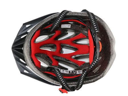 Шлем вел. Giant Rev мат. метал.бел./мат. метал.черн., L (59-63см)
