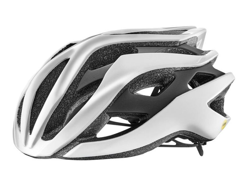 Шлем Giant Rev MIPS блеск.серебристый белый /матовый серебристый черный