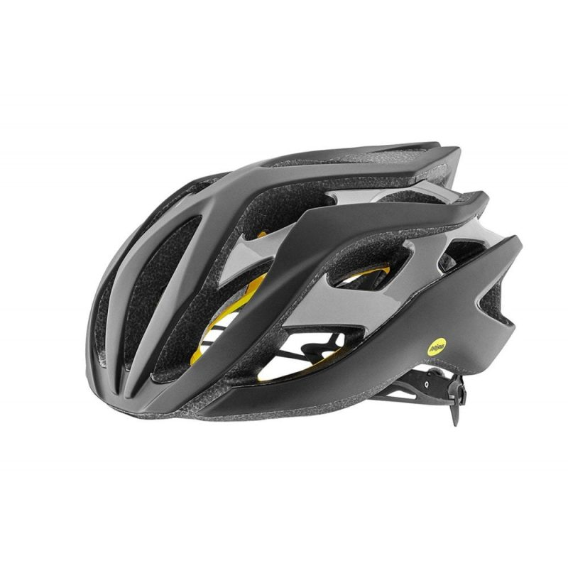 Шлем Giant Rev MIPS матовый чорный/глянцевый серебристый