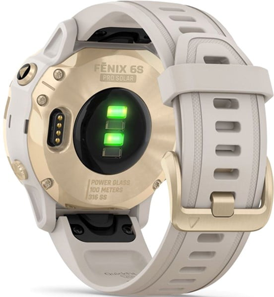 fenix 6S Pro Solar, Lt. Gold w/ Lt. Sand Band