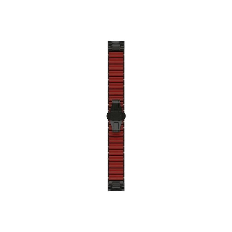 MARQ, QuickFit 22m, Hybrid Titanium/Silicone Bracelet – Carbon Gray DLC