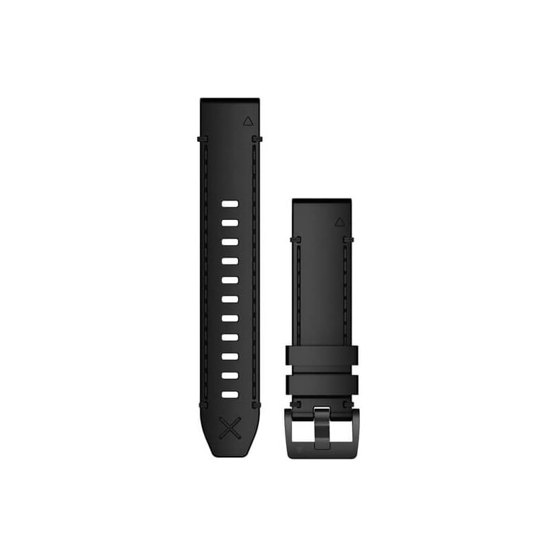 MARQ QuickFit 22m Black Leather Strap