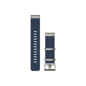 MARQ QuickFit 22m Jacquard Weave Nylon Strap Indigo