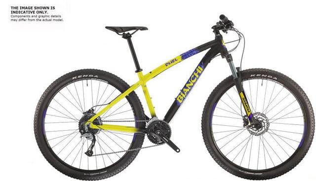 Велосипед Bianchi DUEL 29S Acera/Altus 3x9s Yellow/Black Disc H